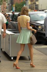 TAYLOR SWIFT in Short Skirt Out in New York 0107