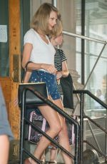 TAYLOR SWIFT in Shorts at Her Apartment in New York