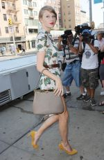 TAYLOR SWIFT in Summer Dress Out in New York