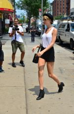 TAYLOR SWIFT in Tank Top and Shorts Out in New York