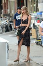 TAYLOR SWIFT in Tank Top Out in New York