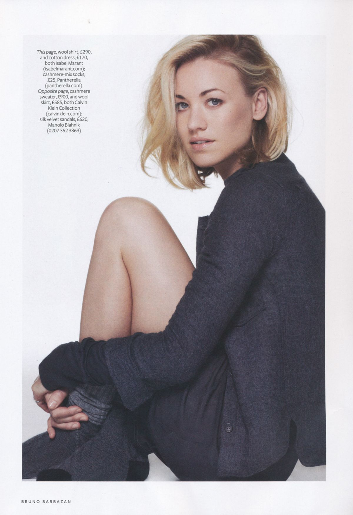 YVONNE STRAHOVSKI in Instyle Magazine, August 2014 Issue
