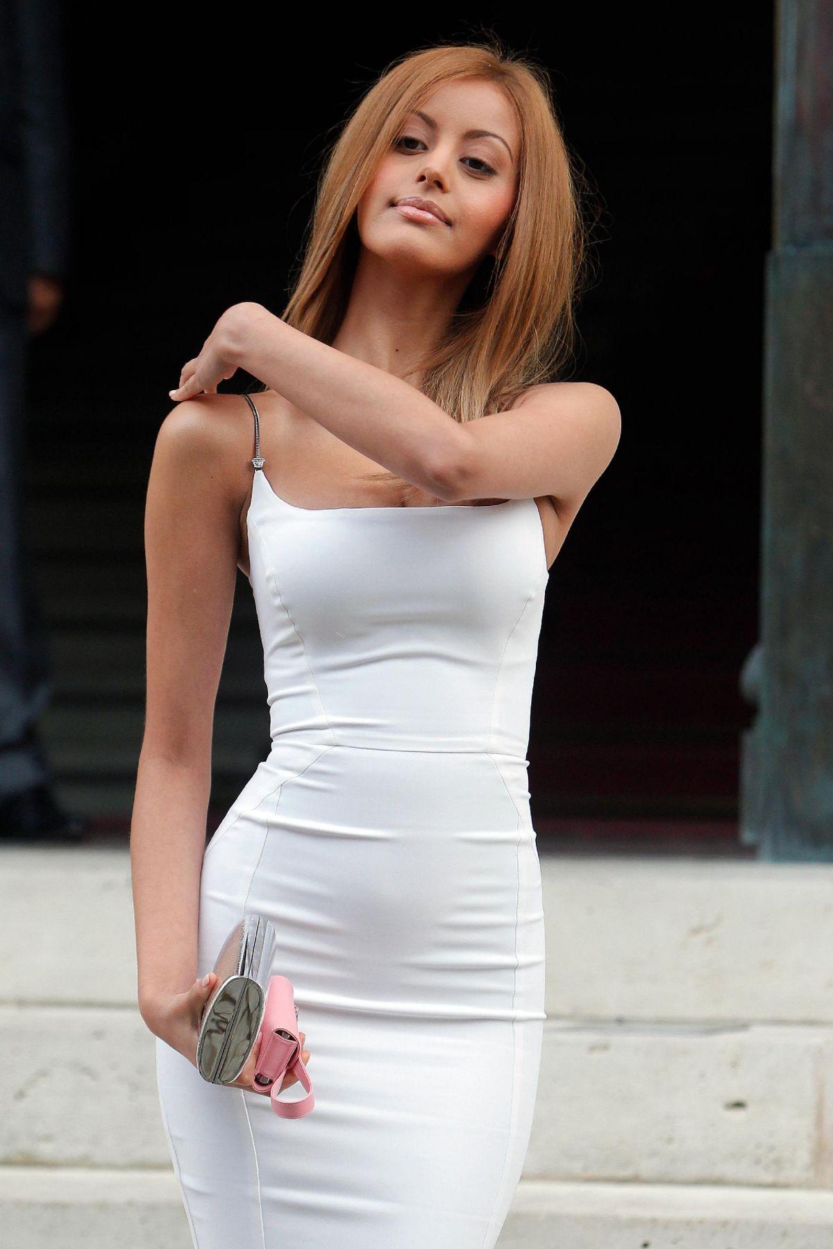 ZAHIA DEHAR at Versace Fashion Show in Paris