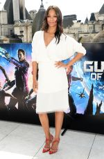 ZOE SALDANA at Guardians of the Galaxy Photocall in London