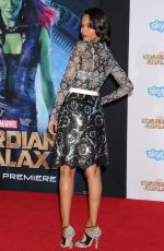 ZOE SALDANA at Guardians of the Galaxy Premiere in Hollywood