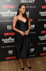 ZOE SALDANA at Guardians of the Galaxy Screening in New York