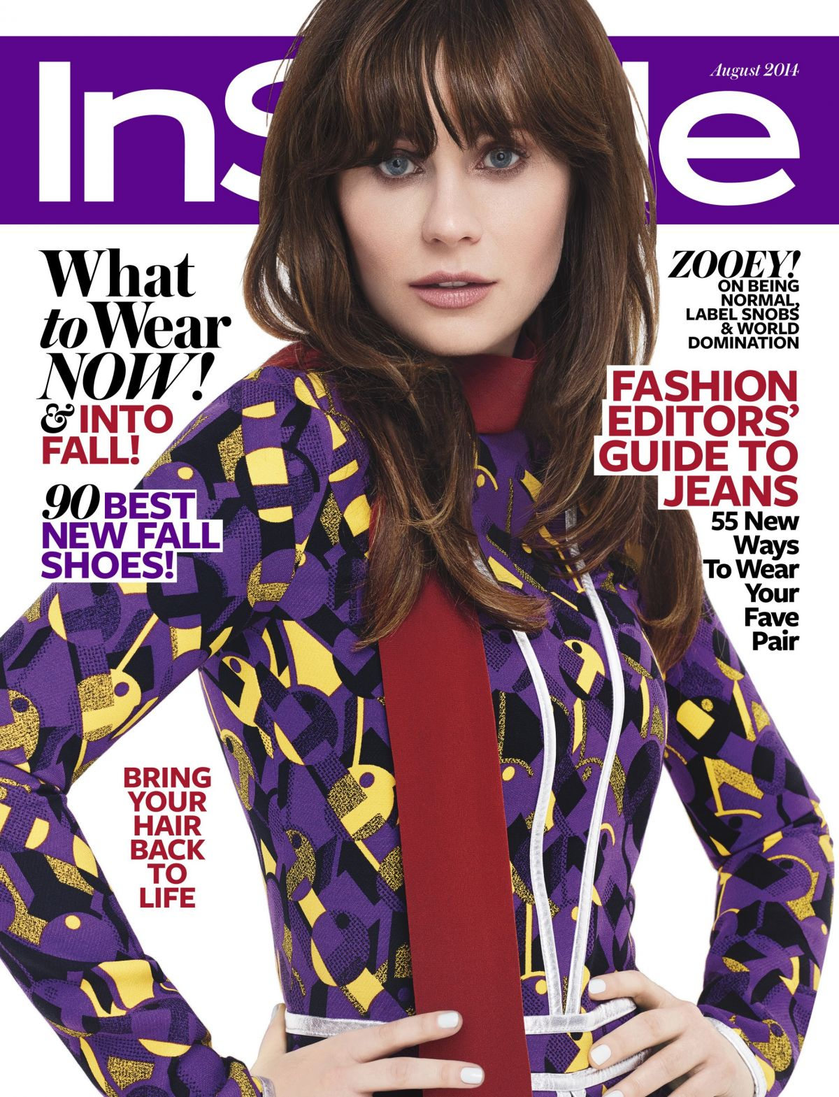 ZOOEY DESCHANEL in Instyle Magazine, August 2014 Issue