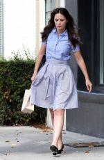 ZOOEY DESCHANEL Leaving a Hair Salon in Beverly Hills
