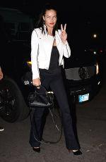 ADRIANNA LIMA Arrives at Rihanna and Eminem Concert in Pasadena