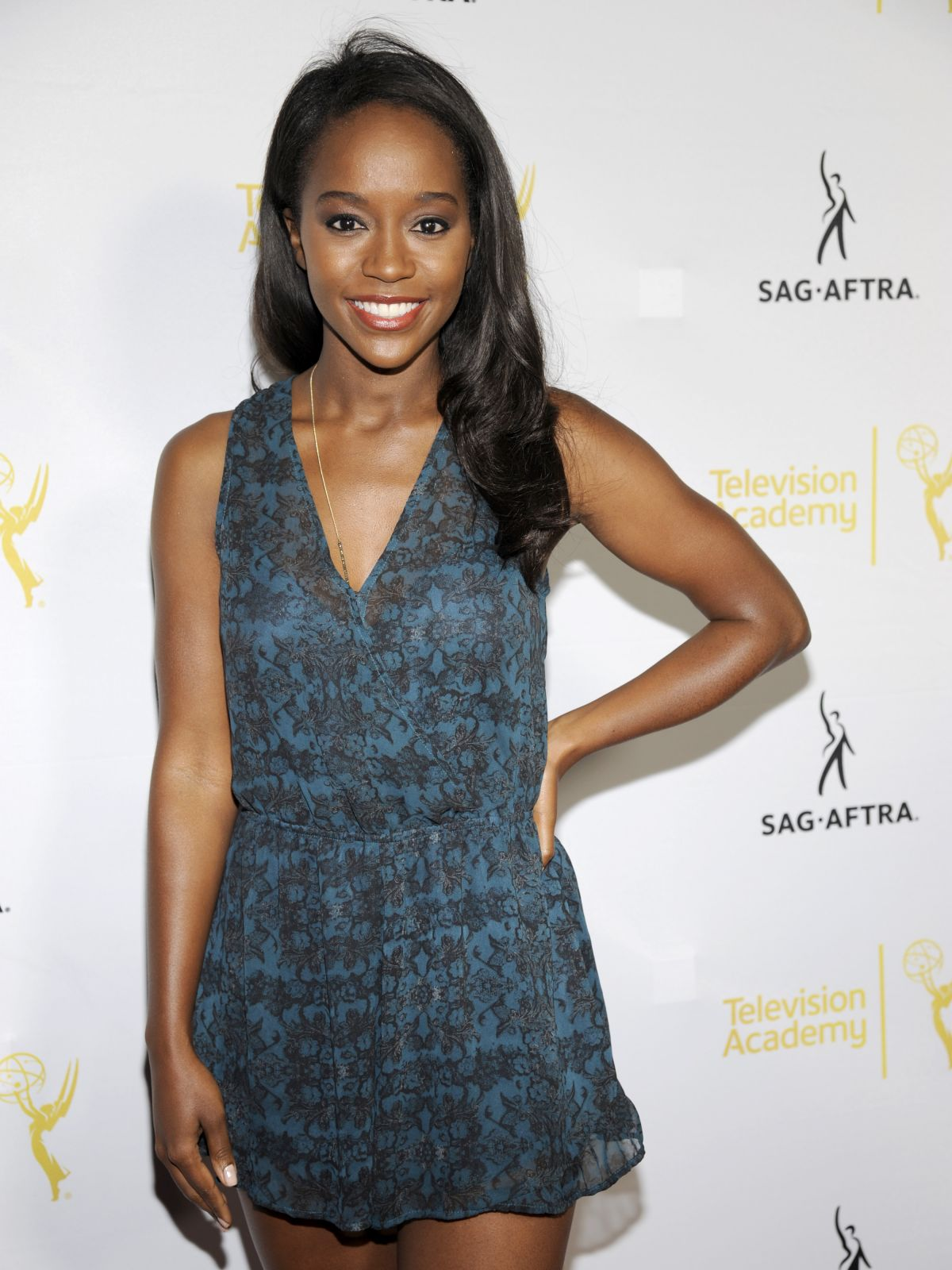 AJA NAOMI KING at Emmy Awards Dynamic and Diverse Nominee Reception