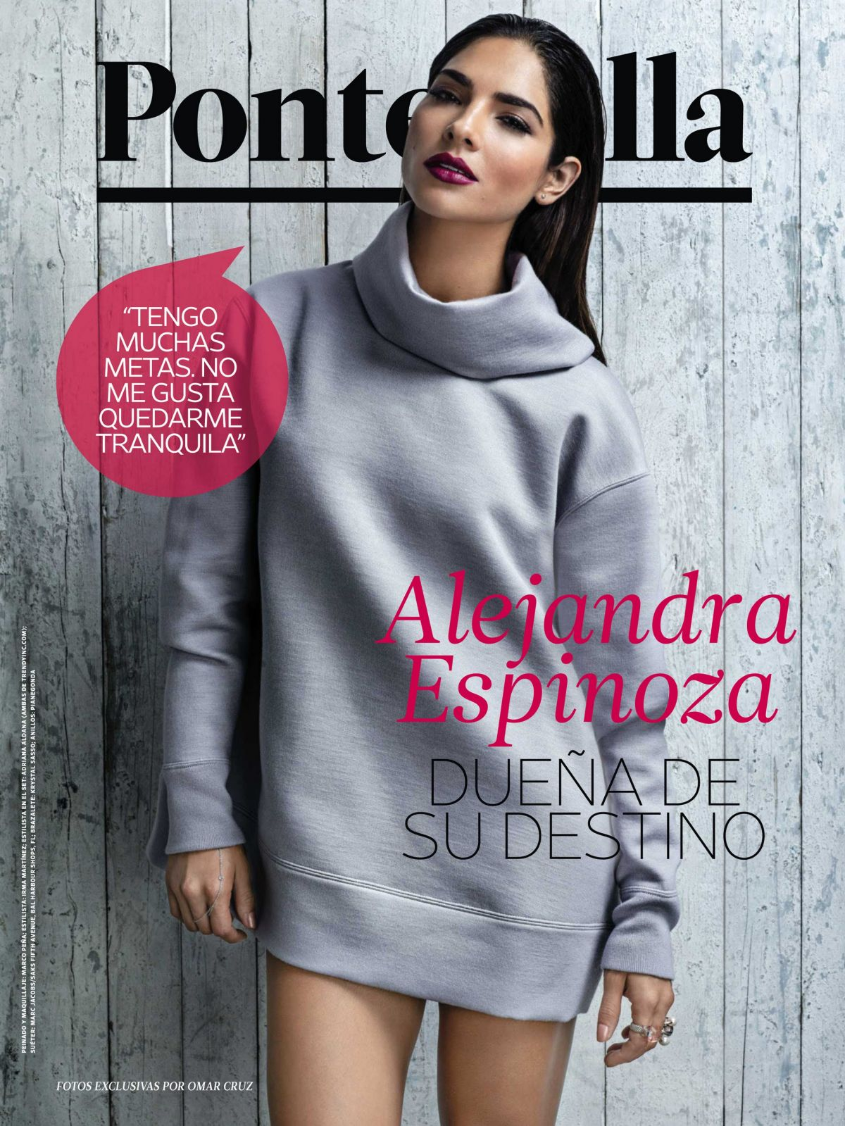 ALEJANDRA ESPINOZA in People En Espanol, September 2014 Issue