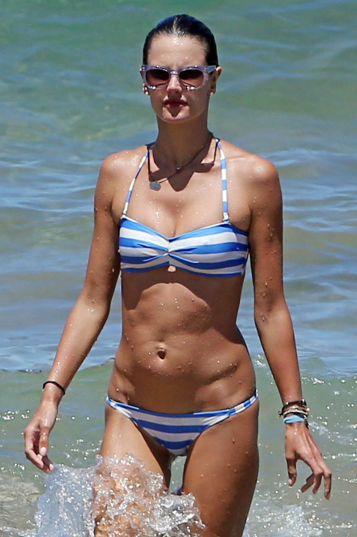 images Alessandra ambrosio is still at the beach