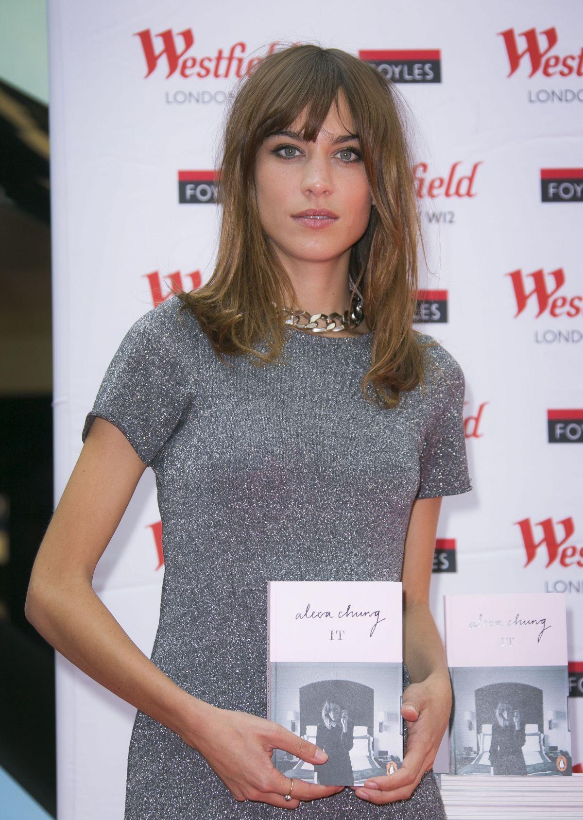 ALEXA CHUBNG at If Book Signing at Westfield in London