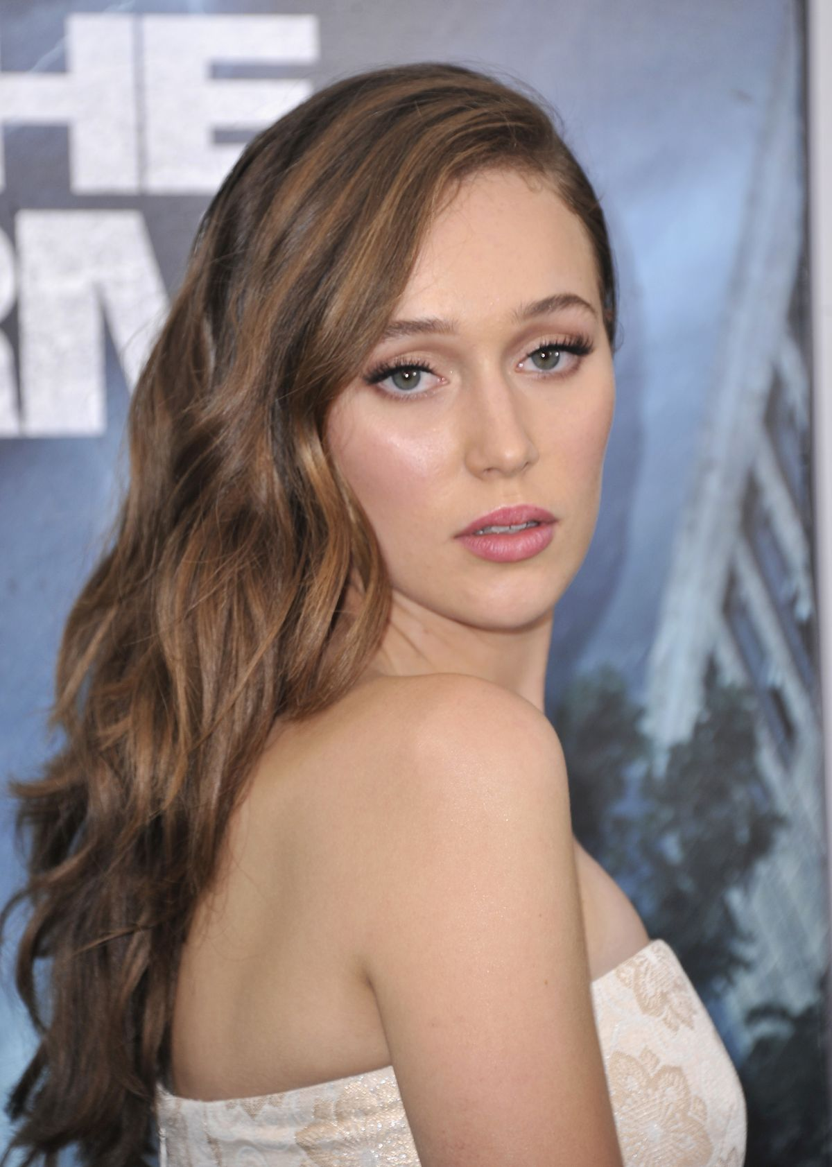 ALYCIA DEBNAM-CAREY at Into the Storm Premiere in New York