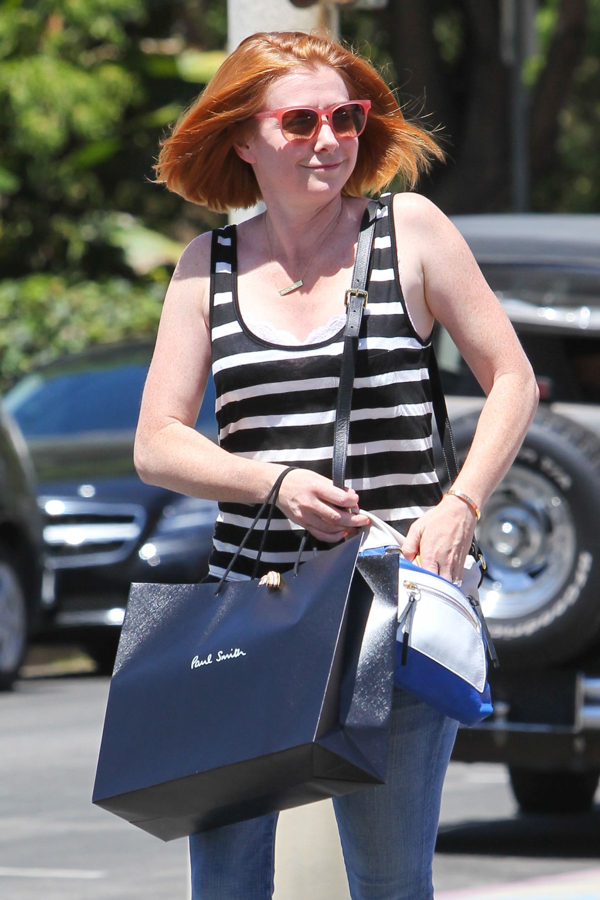ALYSON HANNIGAN Out and About in West Hollywood