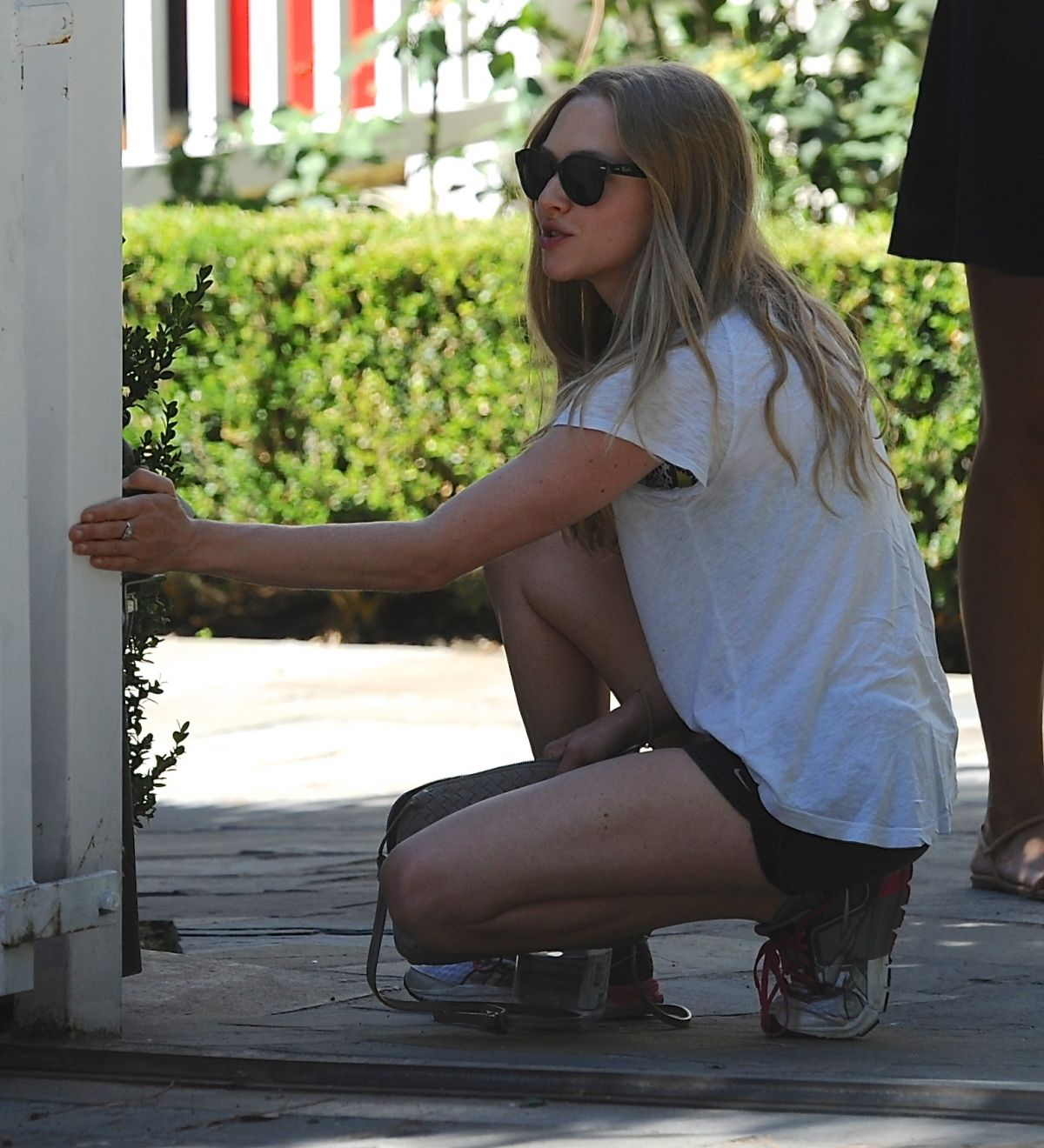 AMANDA SEYFRIED Outside Her House in Los Angeles