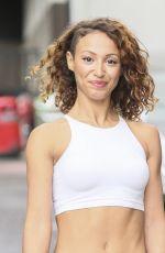 AMELLE BERRABAH Arrives at Good Morning Mritain Studios in London