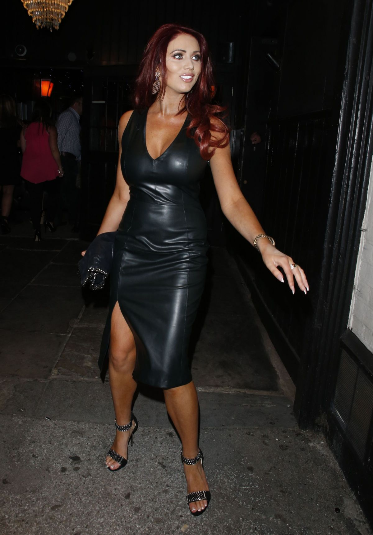AMY CHILDS Arrives at Sugar Hut in Brentwood