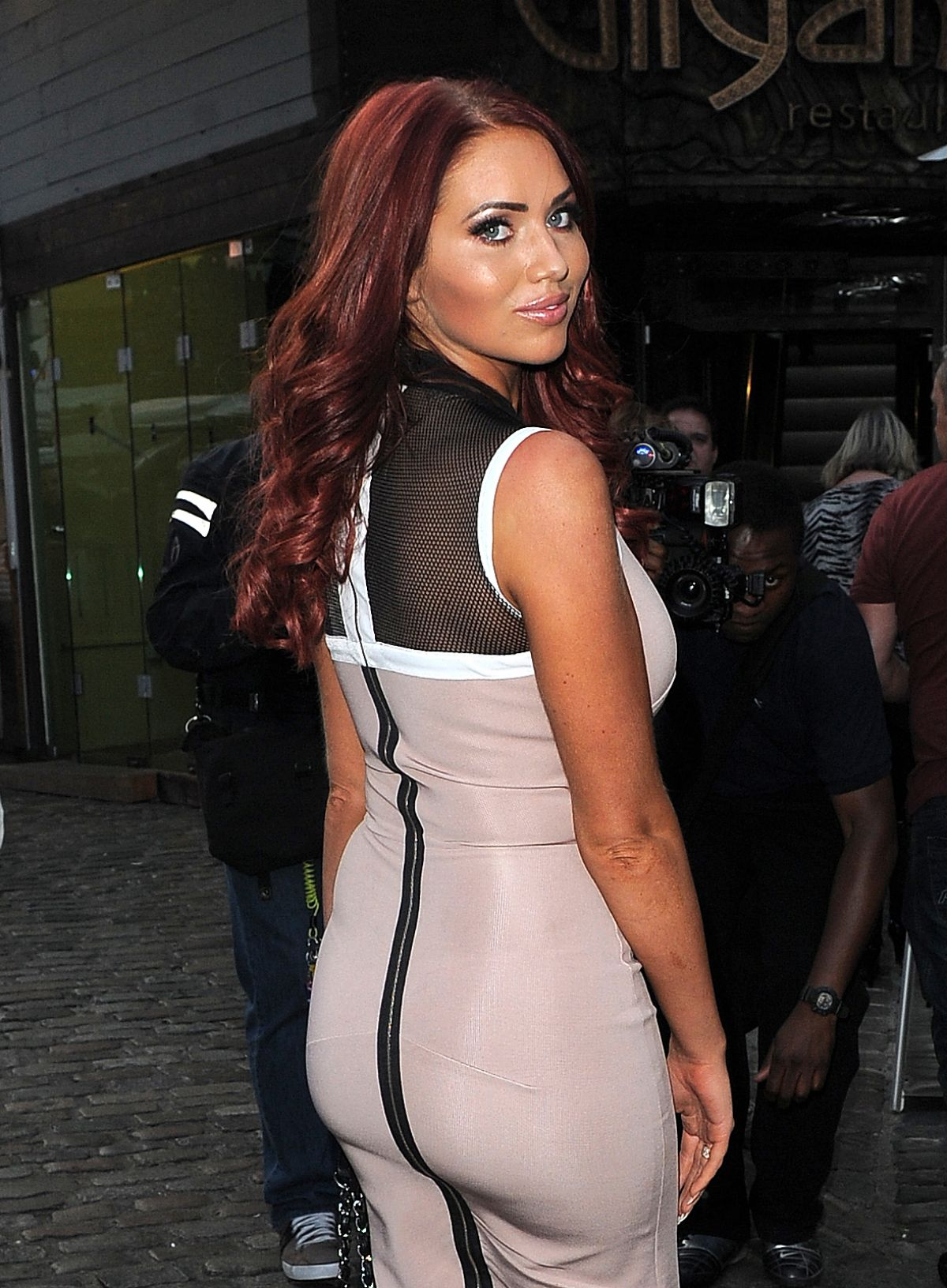 AMY CHILDS at Prive Blue Champagne Party in London