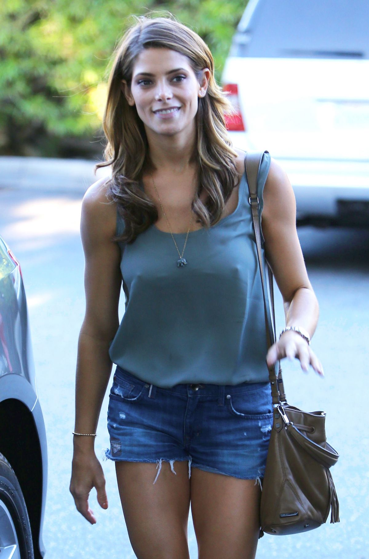 ASHLEY GREENE in Denim...