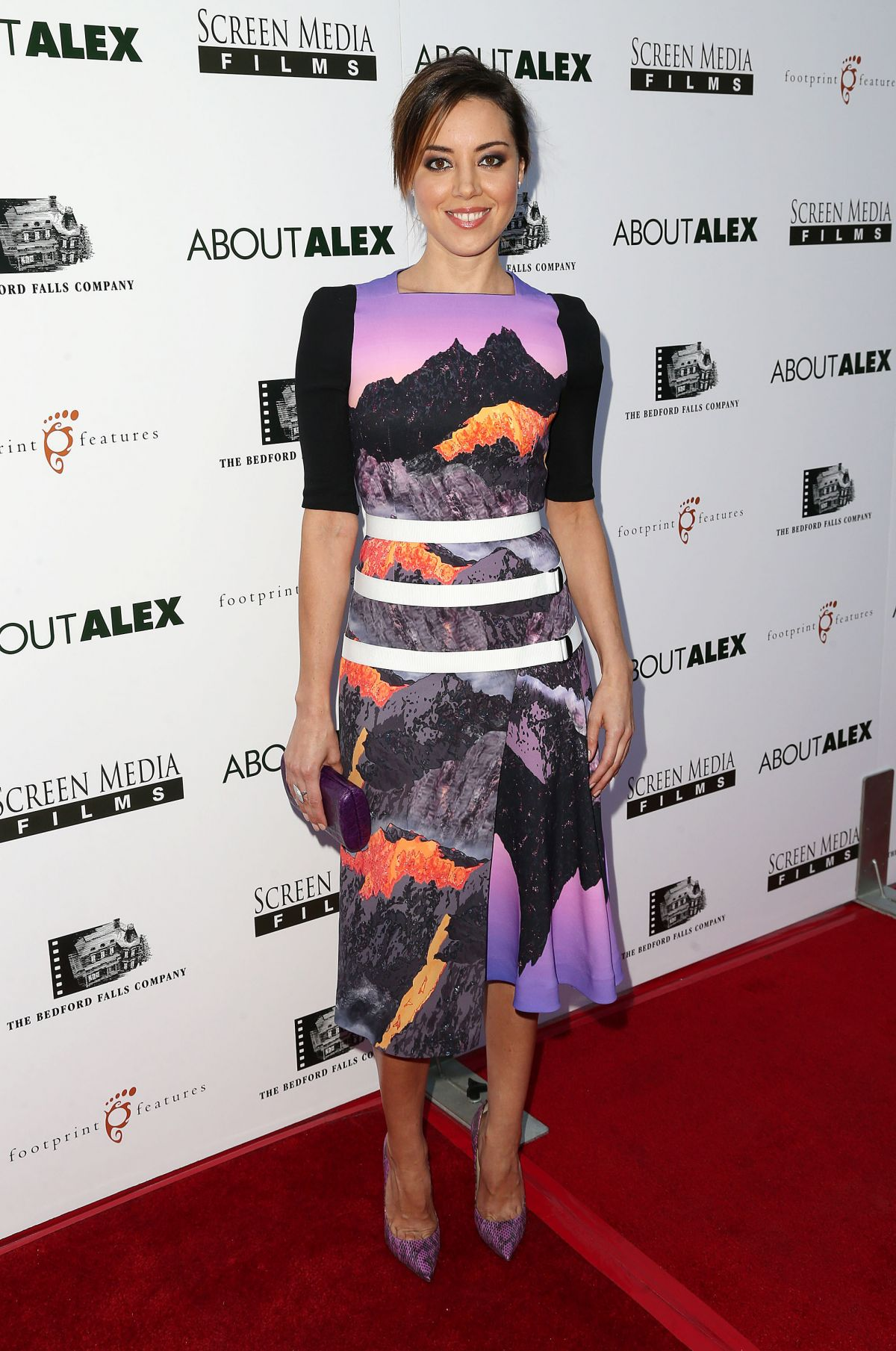 AUBREY PLAZA at About Alex Premiere in Hollywood