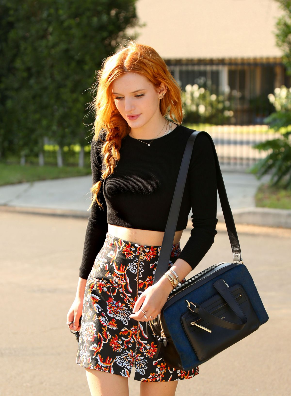 BELLA THORNE Out and About in Hollywood 1208