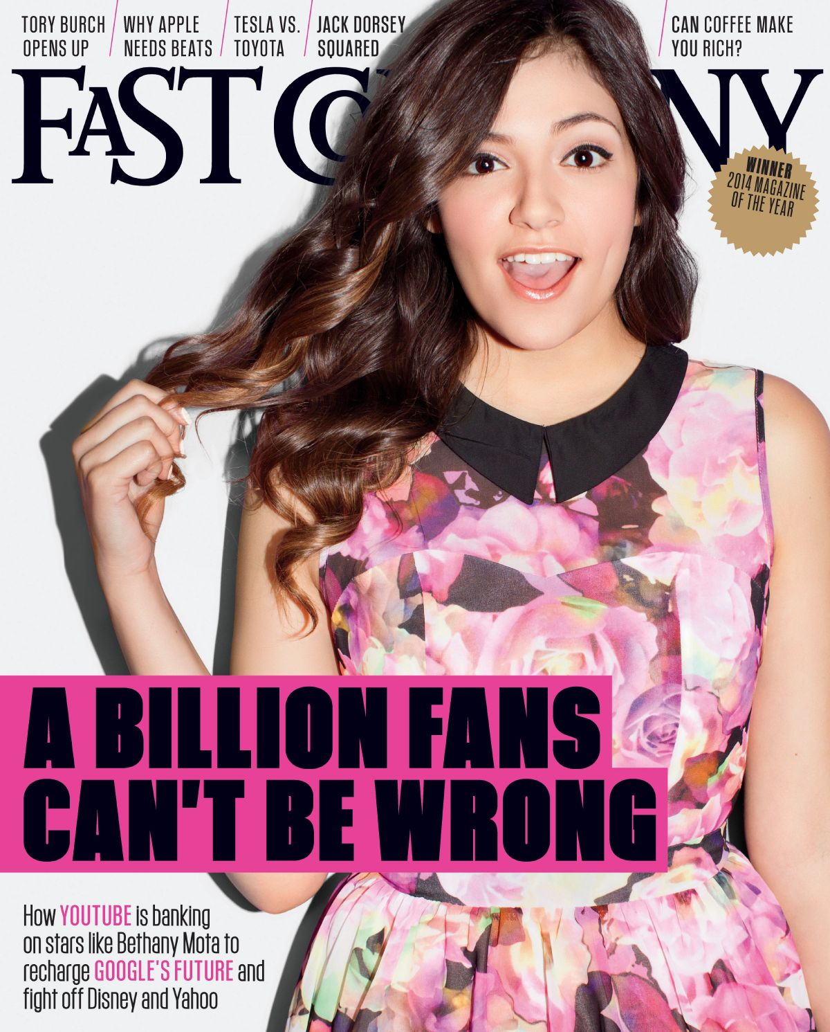 BETHANY MOTA on the Cover of Fast Company Magazine, September 2014 Issue