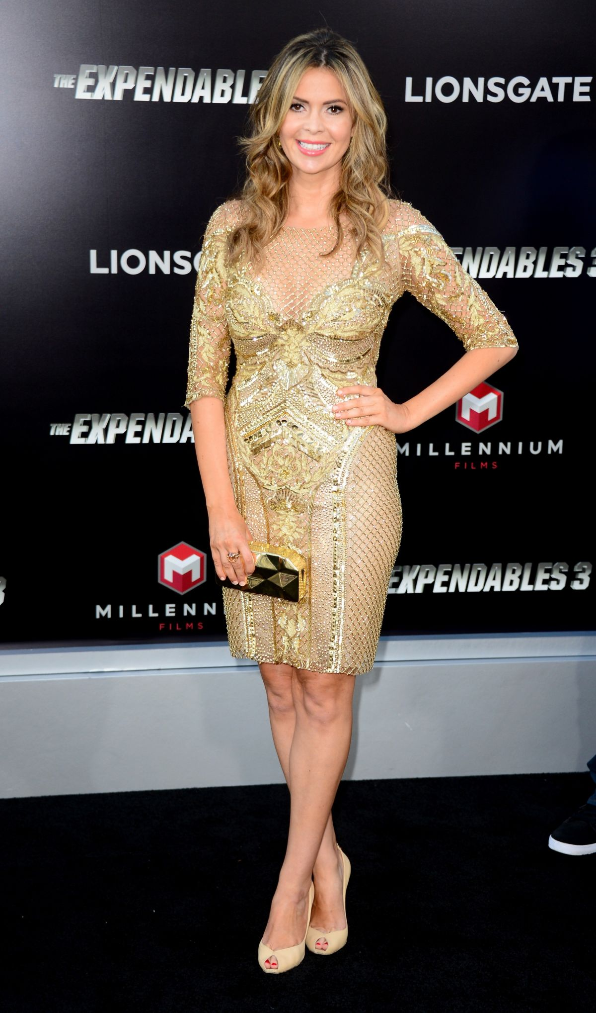 CARLY STEEL at The Expendables 3 Priemere in Los Angeles