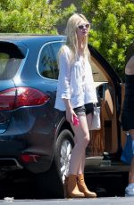 ELLE FANNING Out and About in Studio City