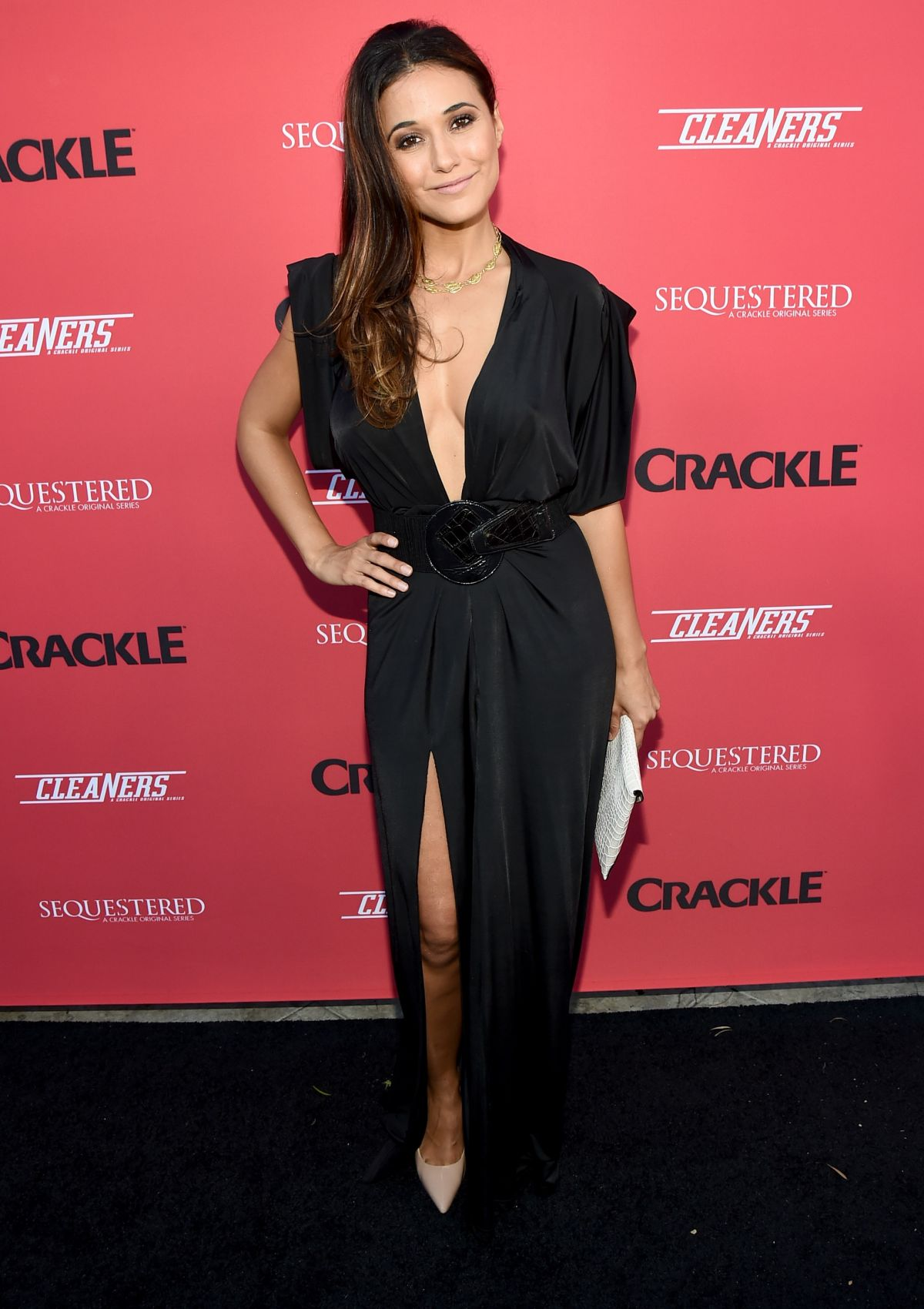 Emmanuelle Chriqui At Sequestered And Cleaners Premieres
