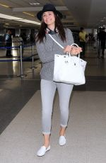 EMMY ROSSSUM at LAX Airport in Los Angeles 2508
