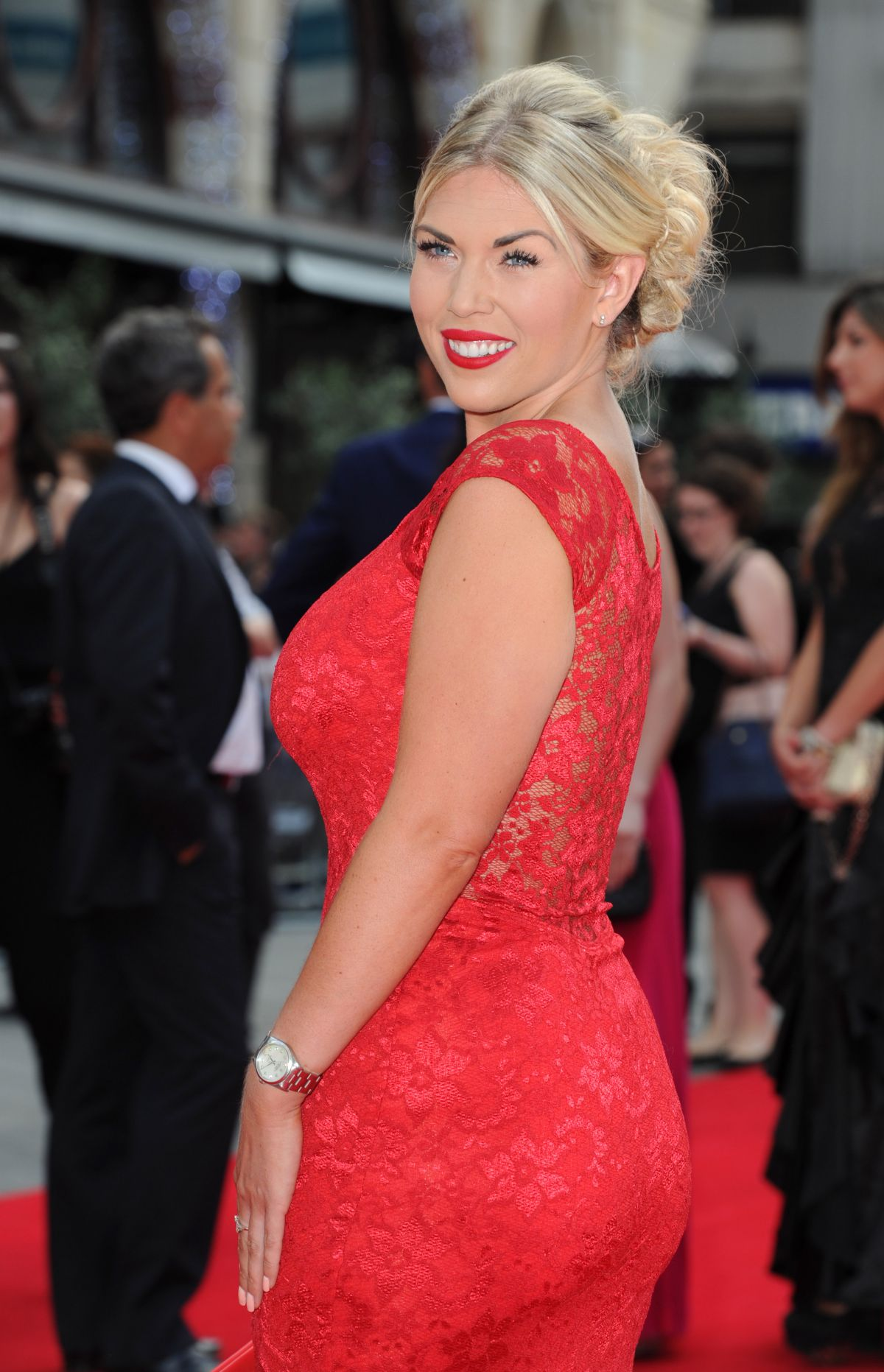 FRANKIE ESSEX at The Expendables 3 Premiere in London ...