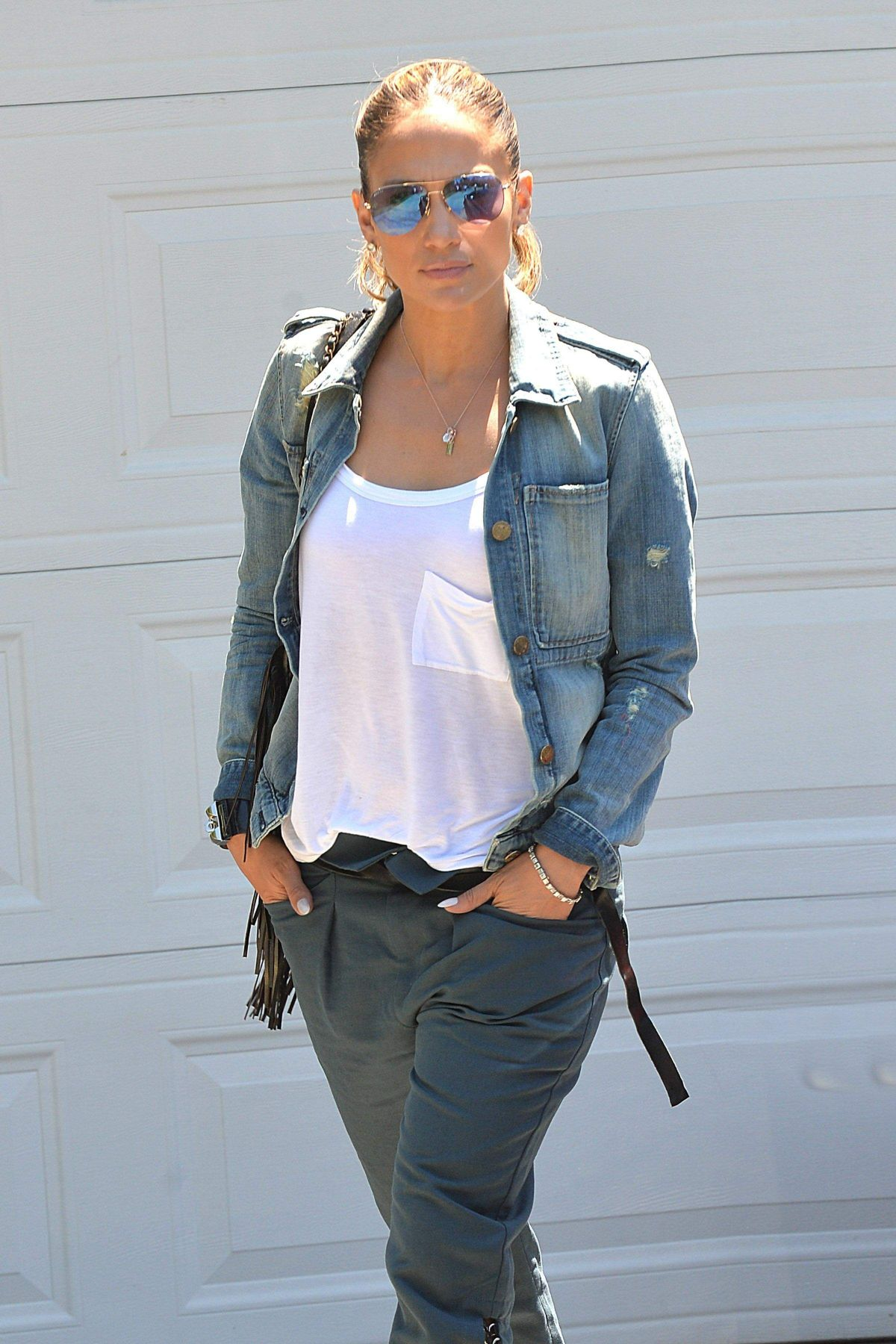 JENNIFER LOPEZ in Jeans Out in Brentwood