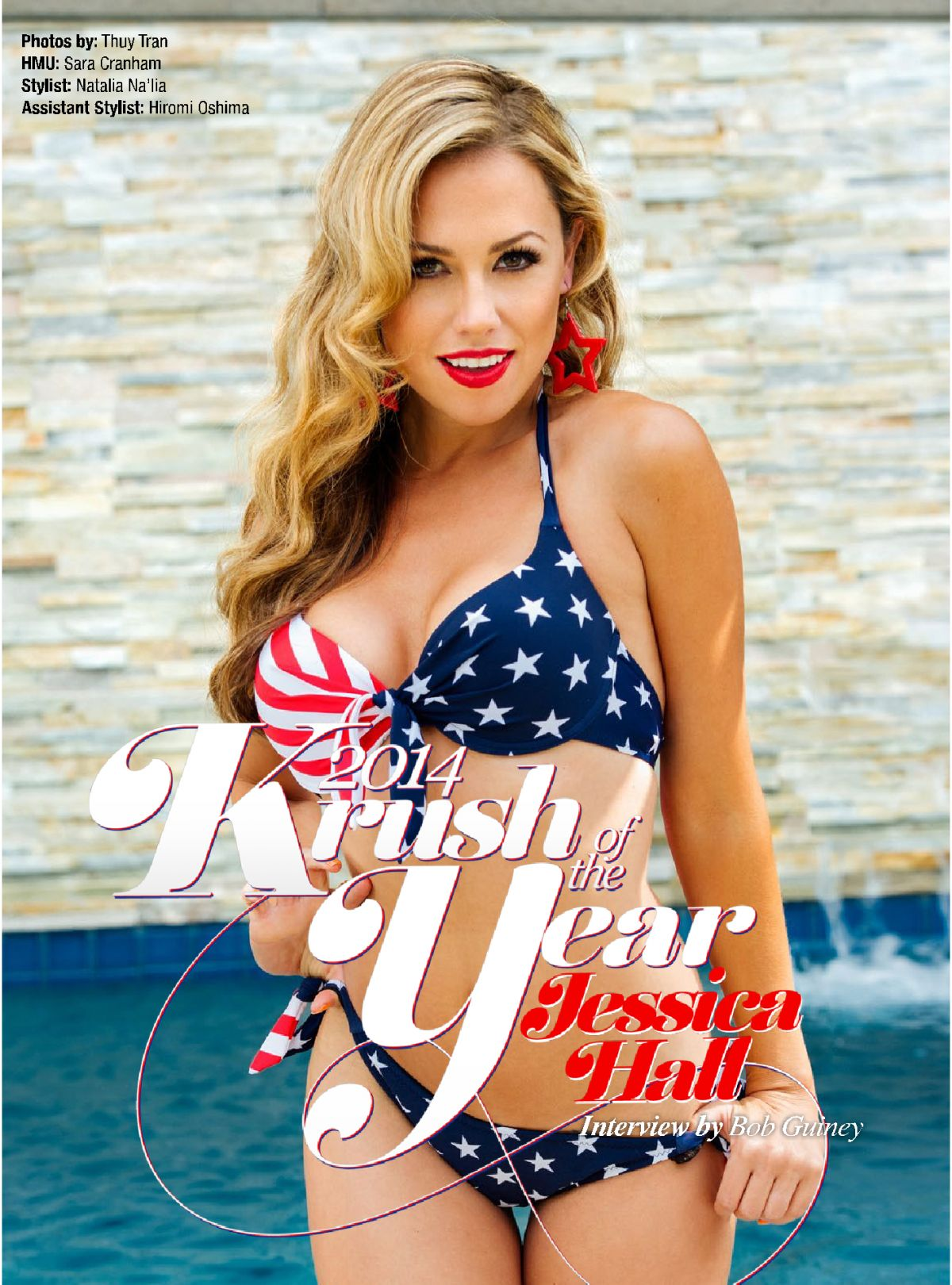 JESSICA HALL in Kandy Magazine, July 2014 Issue