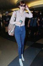 KAREN GILLAN at LAX Airport in Los Angeles