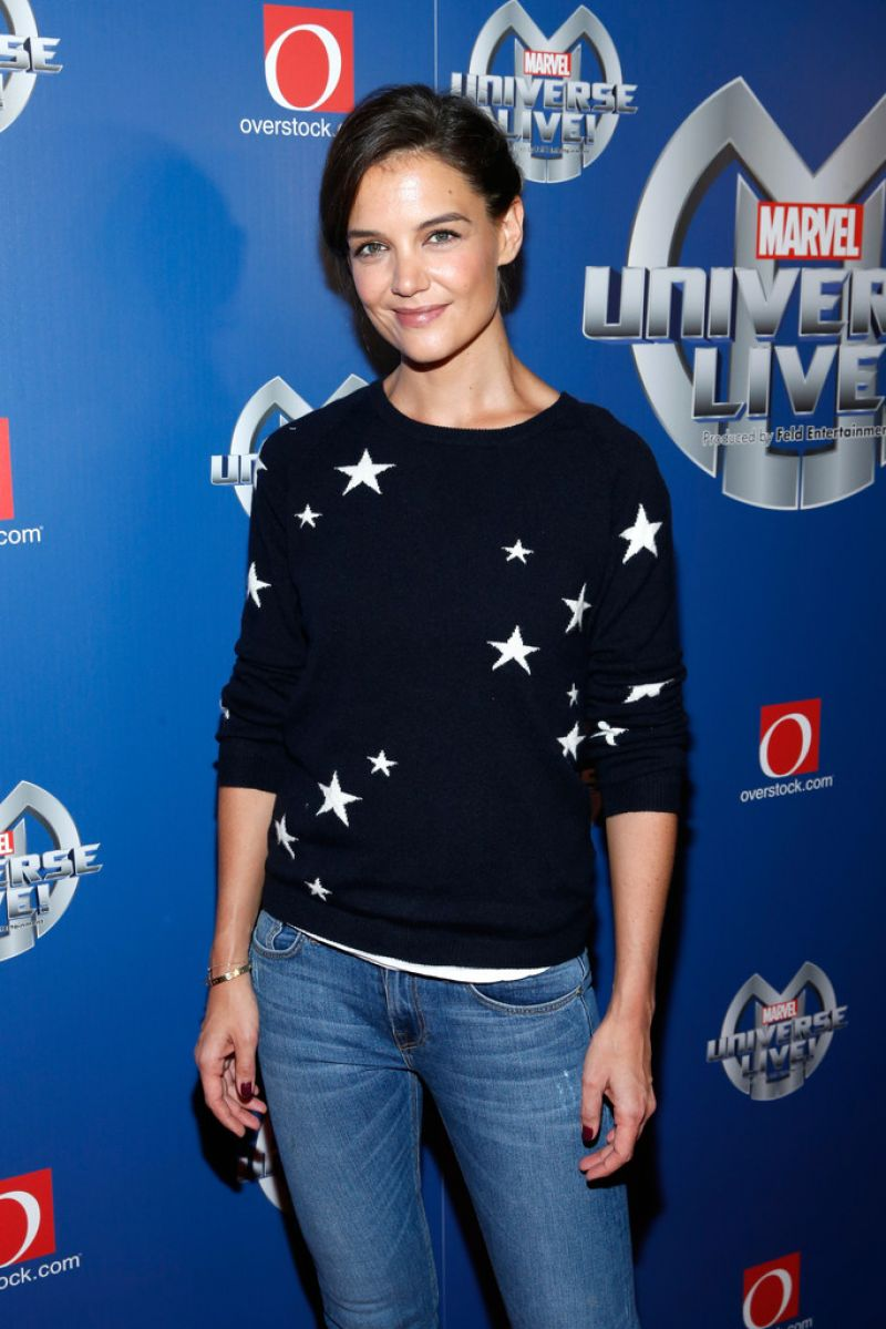KATIE HOLMES at Marvel Universe Live! Premiere in New York