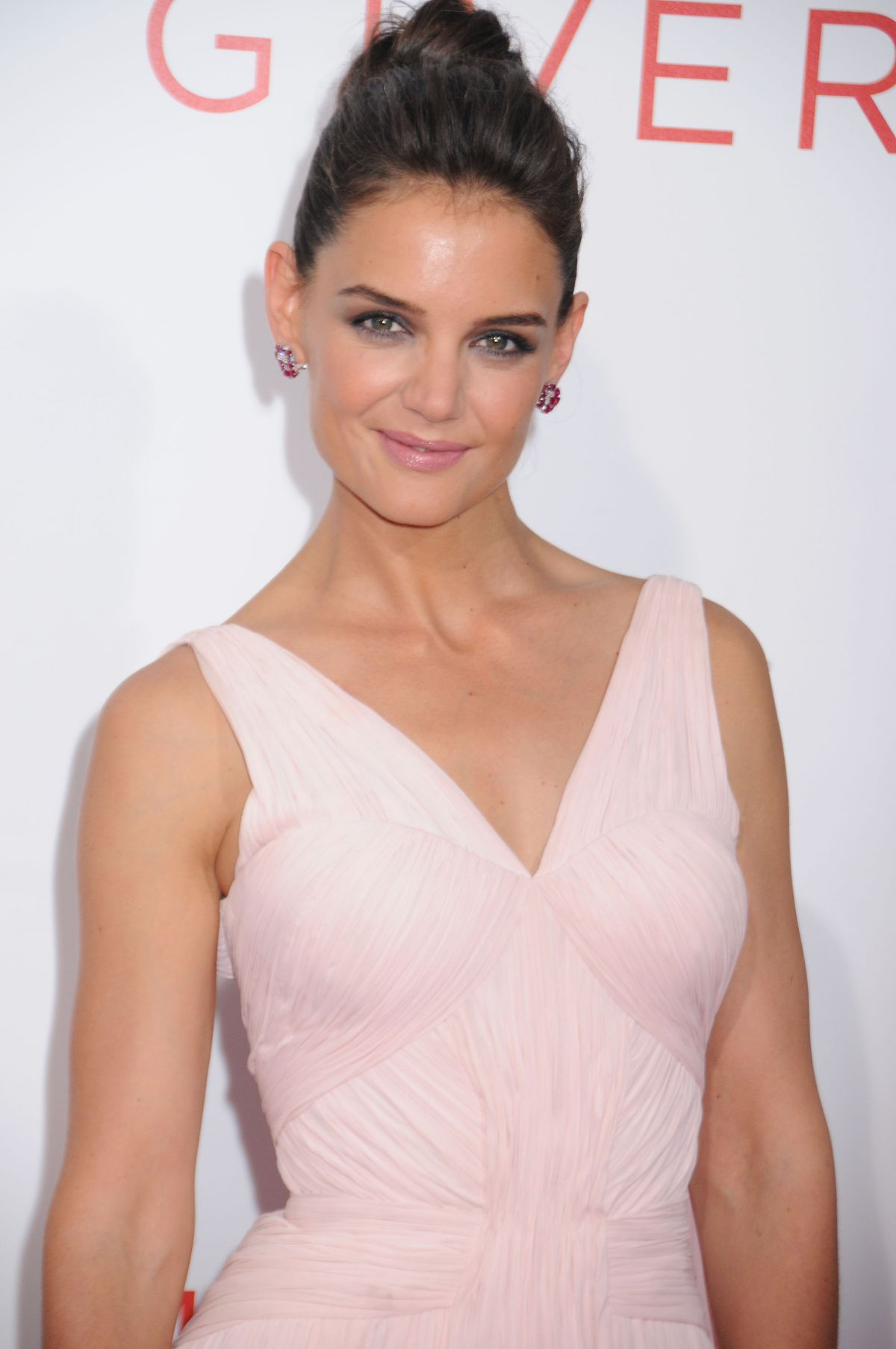 KATIE HOLMES at The Giver Premiere in New York