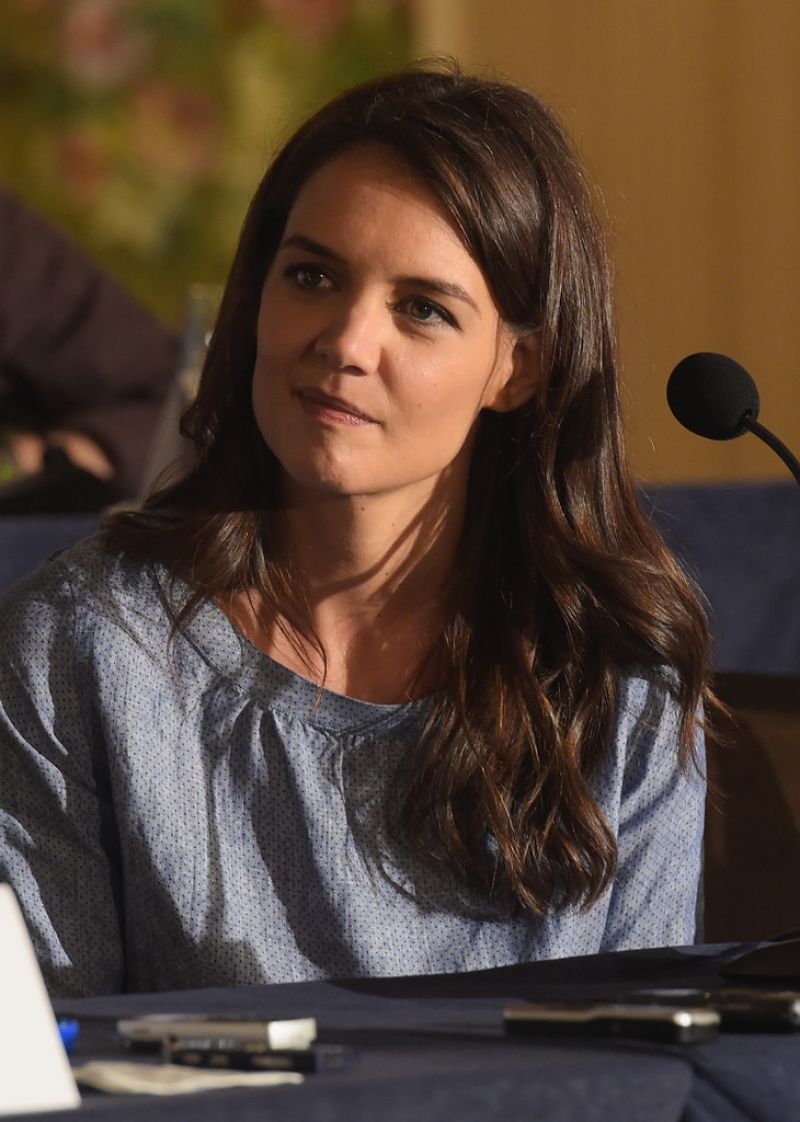 KATIE HOLMES at The Giver Press Conference in New York