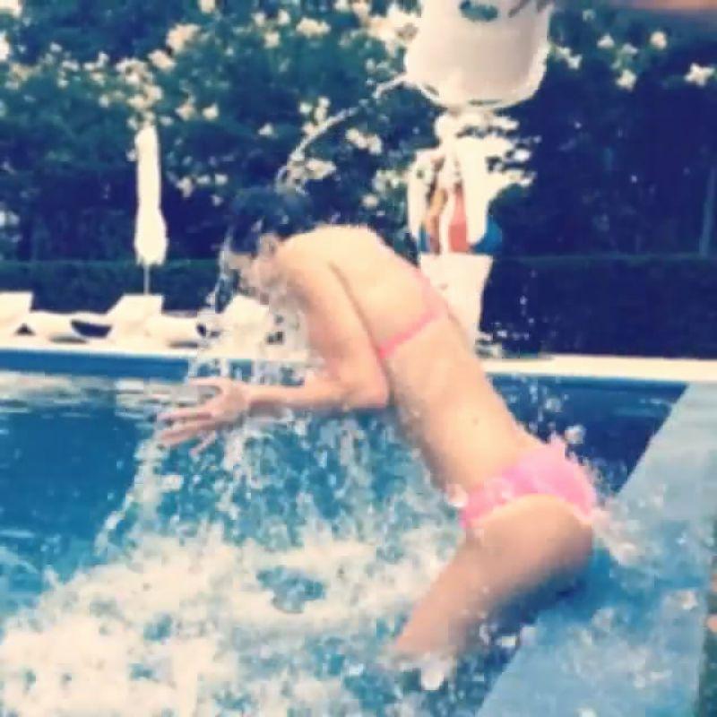 KENDALL JENNER in Bikini Doing ALS Ice Bucket Challenge