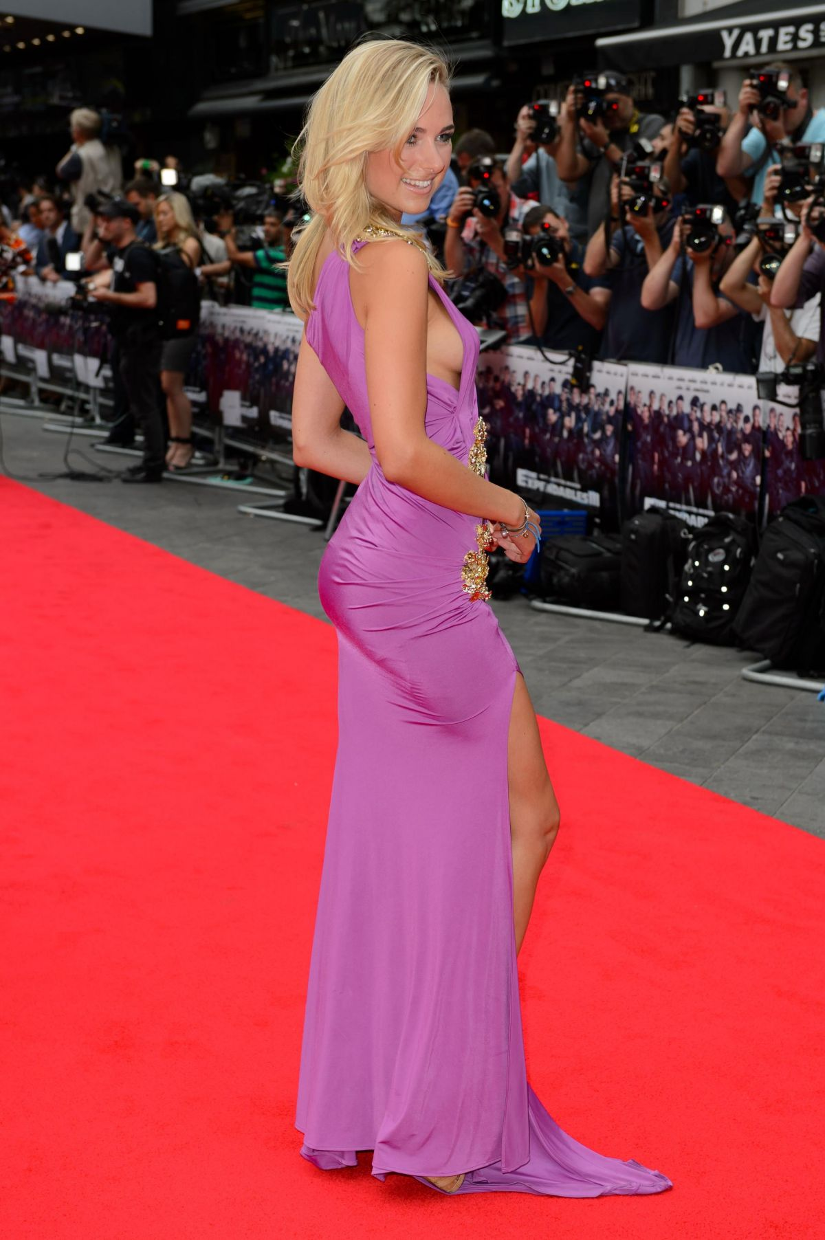 KIMBERLEY GARNER at The Expendables 3 Premiere in London ...