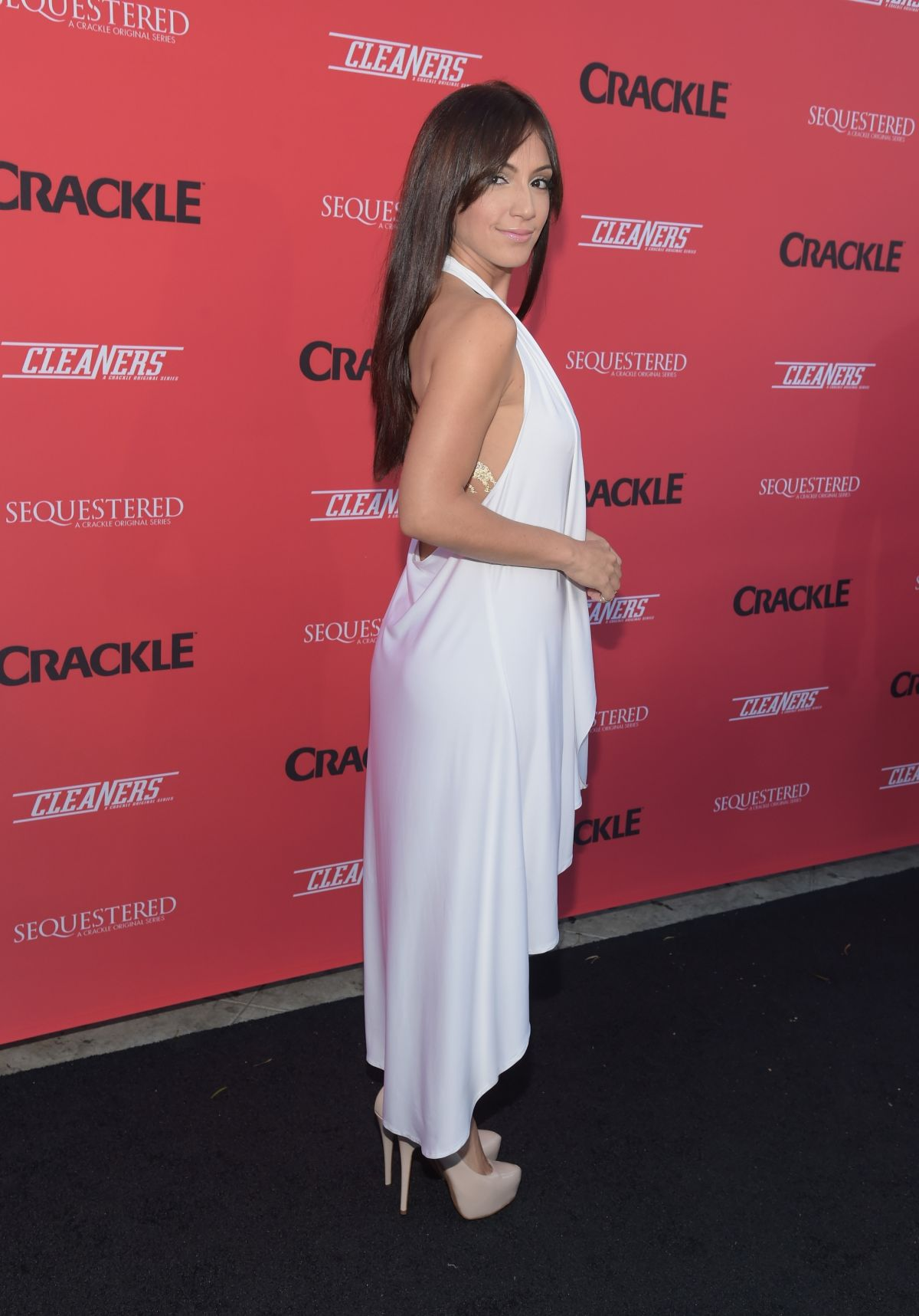 LAURA ALEMAN at Sequestered and Cleaners Premieres in West Hollywood