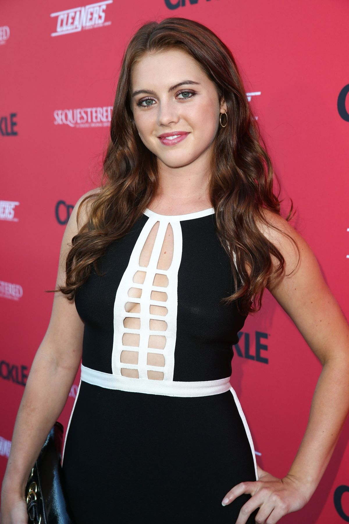 LINDSAY BUSHMAN at Sequestered and Cleaners Premieres in West Hollywood
