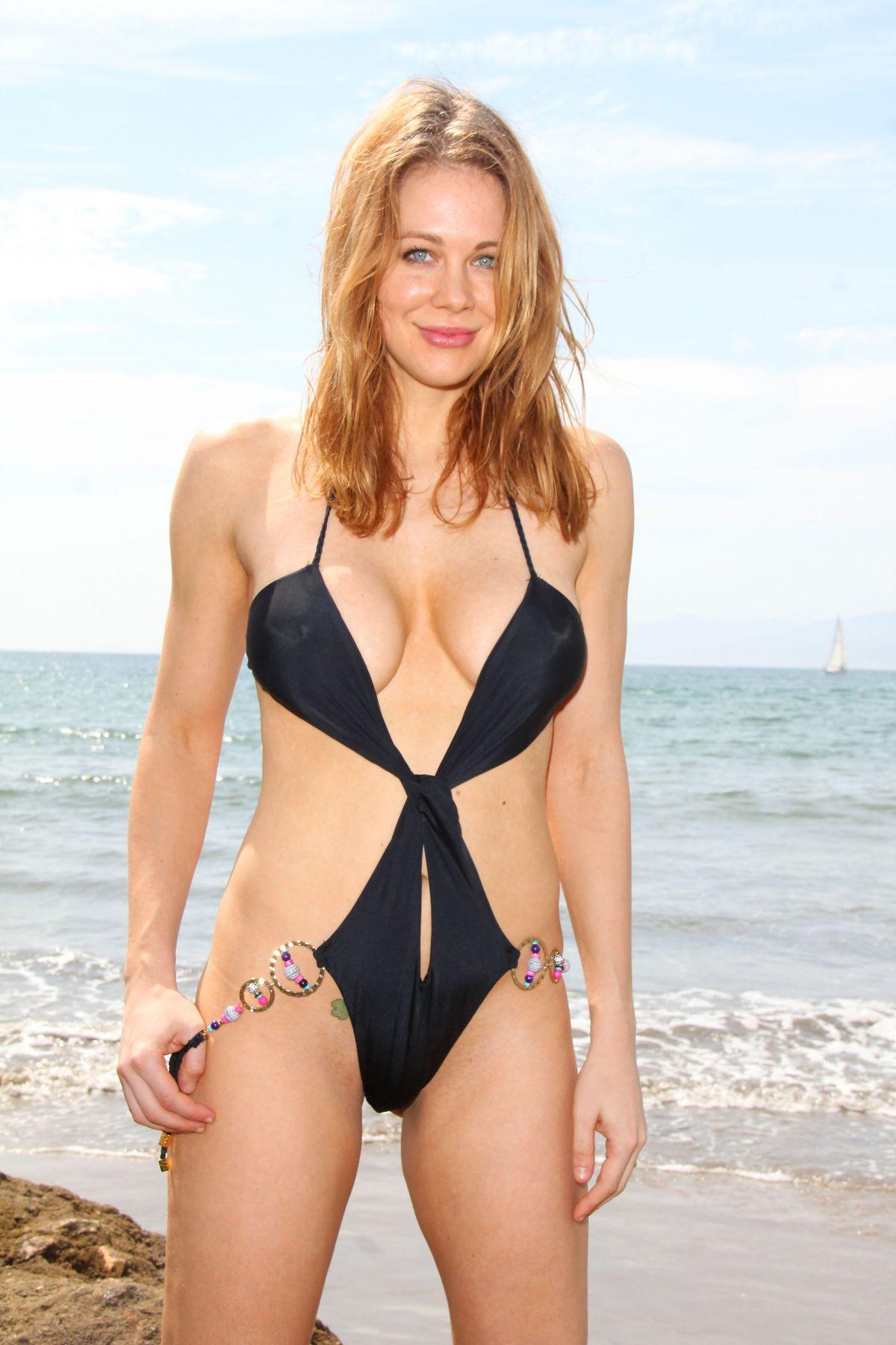 Maitland Ward In Bikini At A Photoshoot On Malibu Beach