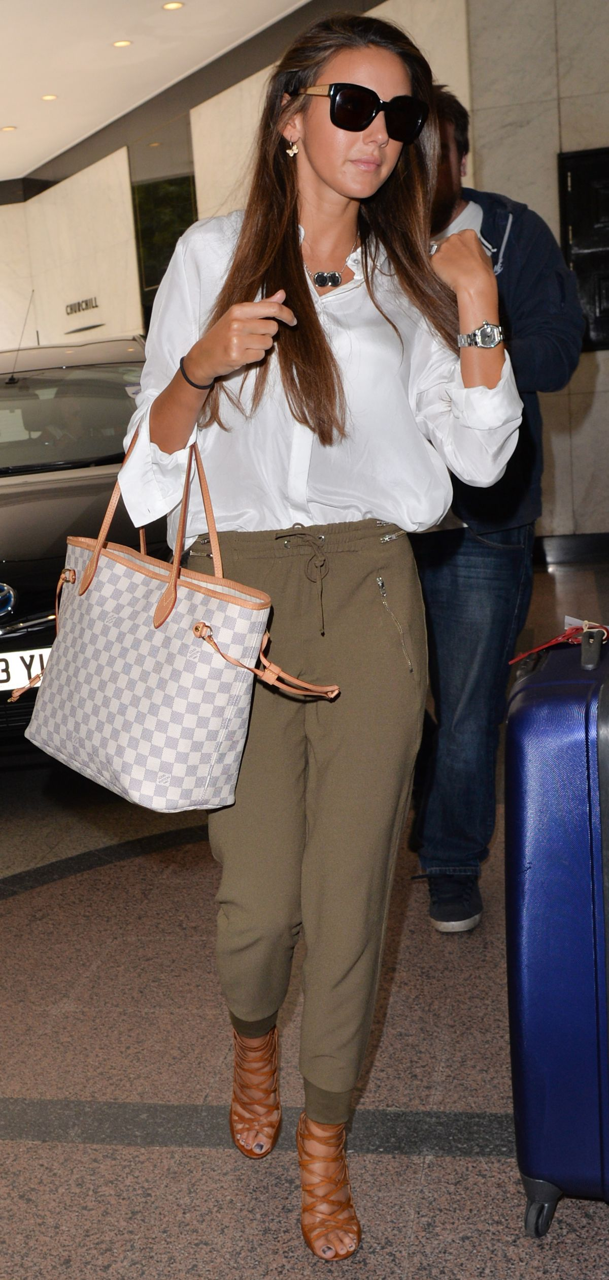 MICHELLE KEEGAN Arrives at Her Hotel in London
