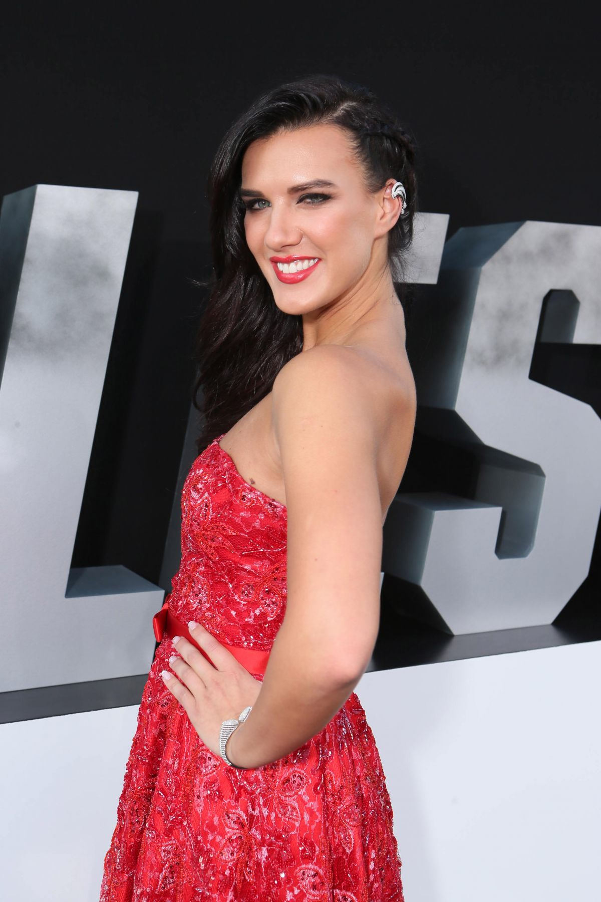 NATALIE BURN at The Expendables 3 Premier in Los Angeles