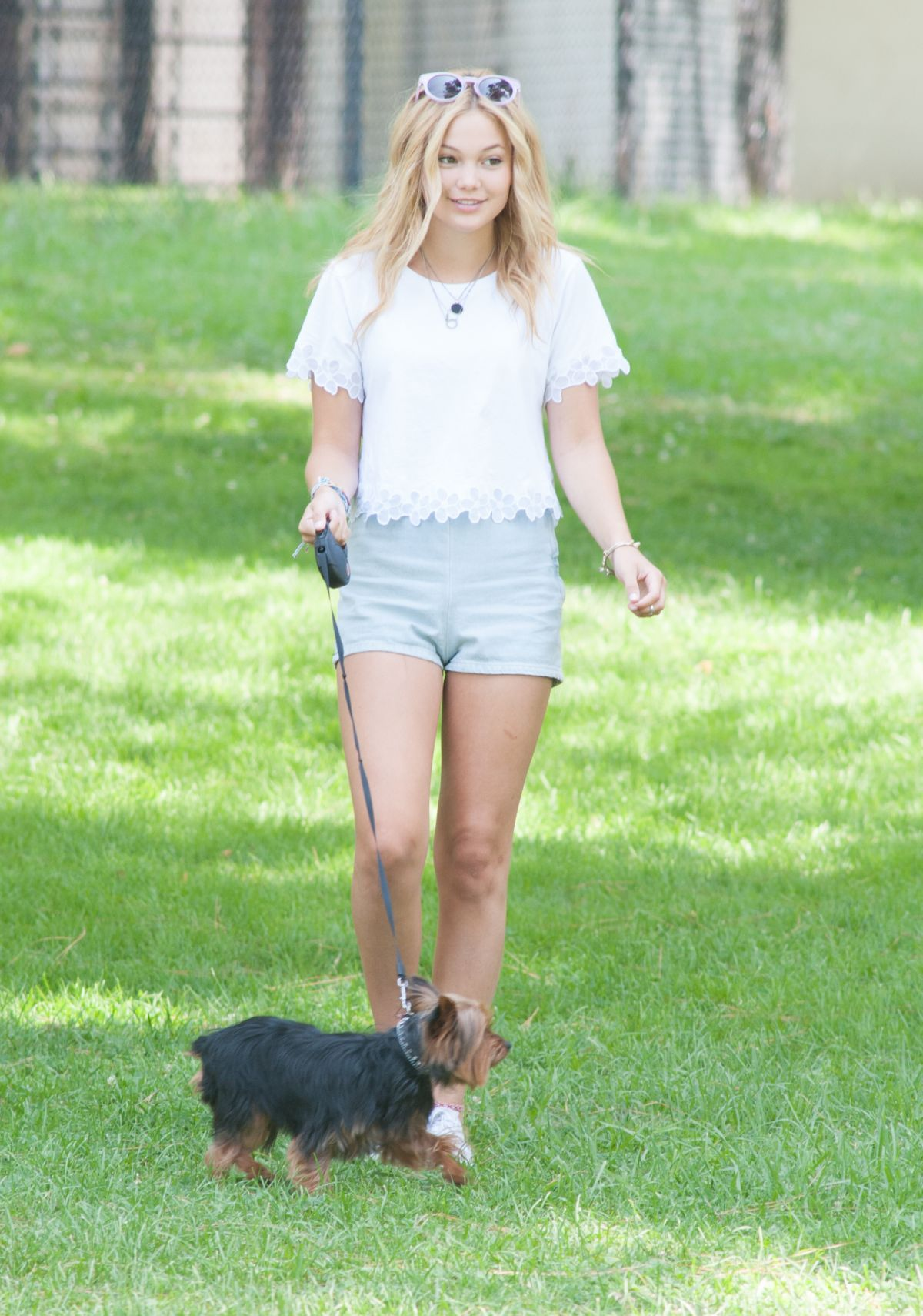 cameltoe olivia holt OLIVIA HOLT Walks Her Dog at a Park in Los Amgeles