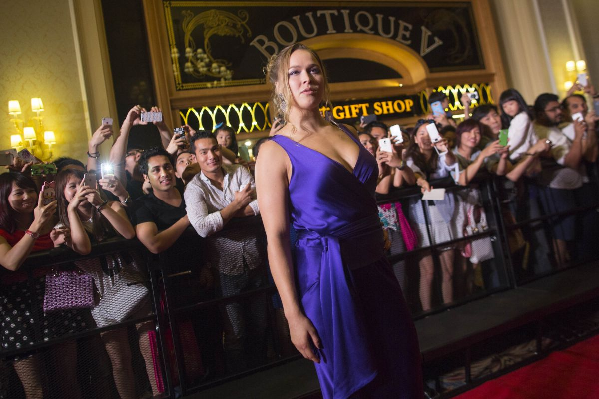RONDA ROUSEY at Venetian Macao 7th Anniversary Event