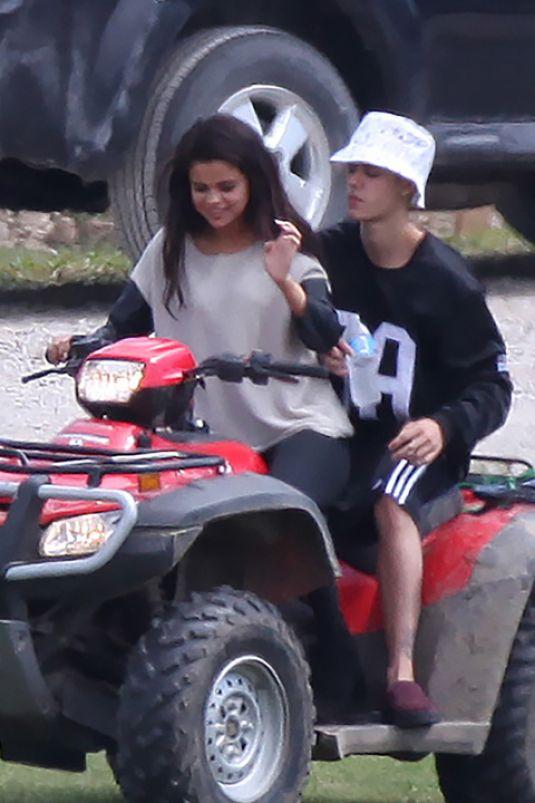 SELENA GOMEZ and Justin Bieber Riding a ATV in Toronto