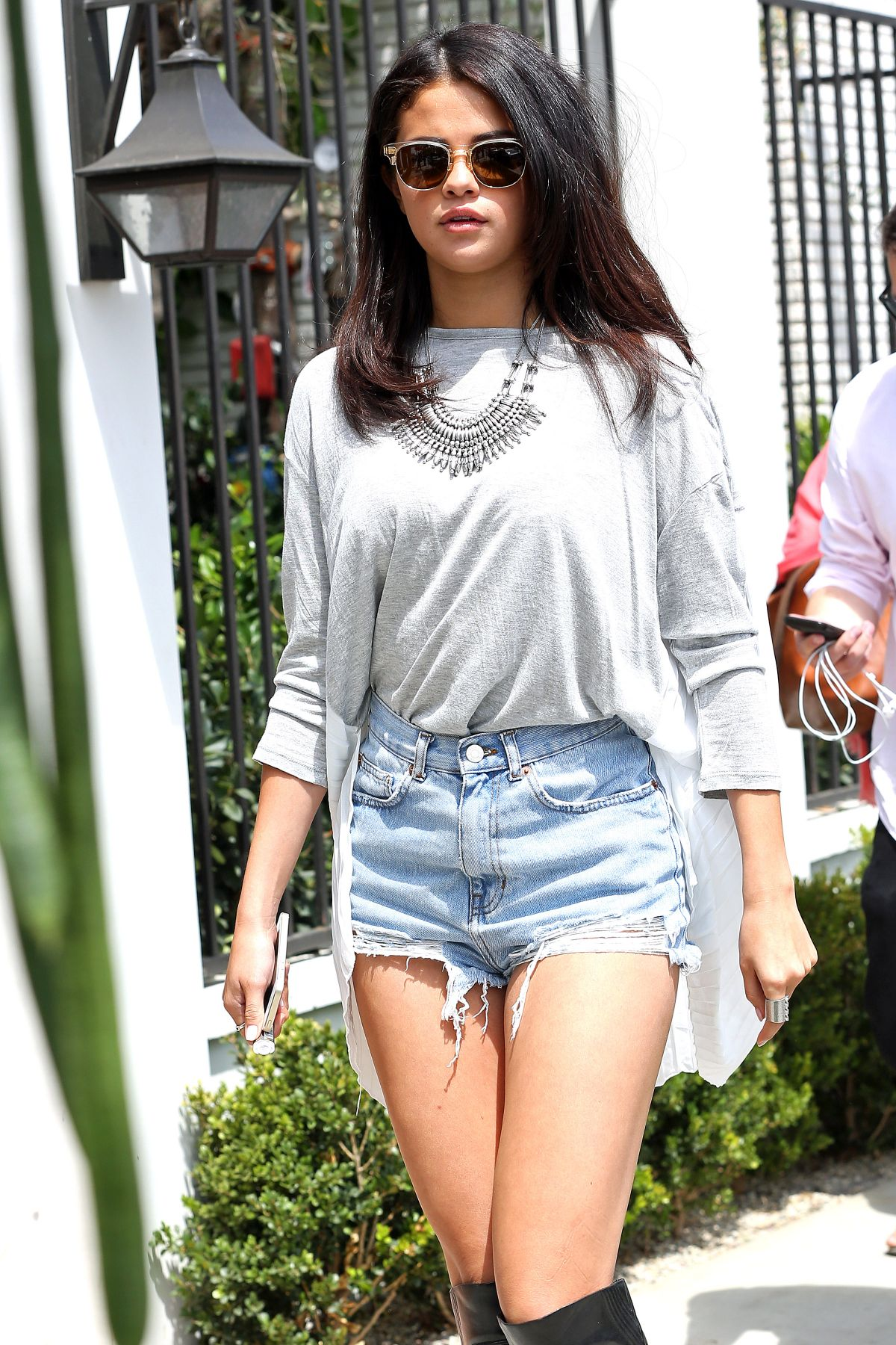 SELENA GOMEZ in at Gracias Madre in West Hollywood