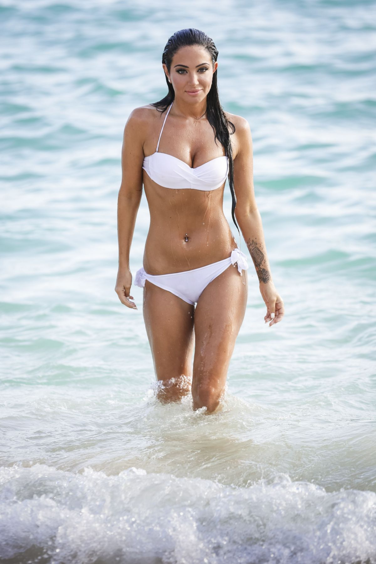 TULISA CONTOSTAVLOS in Bikini at a Beach in Bermuda